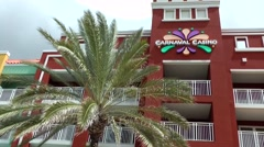 Curacao Willemstad 001 Carnaval Casino Hotel in Otrobanda district Stock Footage