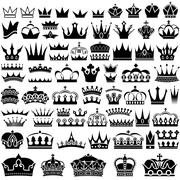 Royal Crowns - stock illustration