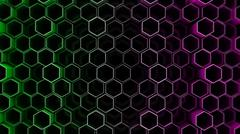 Stock Illustration of Abstract tech background with hexagons