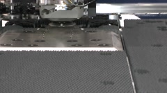 Processing a workpiece for a given program Stock Footage