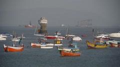 Boats for the coast in Bombay,Mumbai,India - stock footage