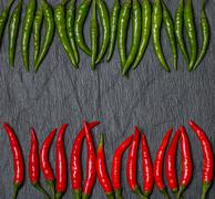 frame of red and green Chile pepper - stock photo