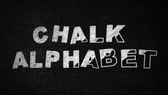 Stock After Effects of Chalk Alphabet folder