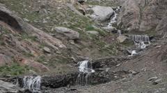 Small waterfalls,Kalpa,Kinnaur,India Stock Footage