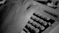 Tipewritter old cinema.mp4 - stock footage