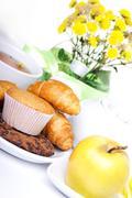 Breakfest with tea and fresh baking Kuvituskuvat