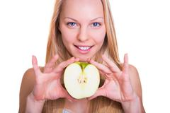 healthy nutrition and beauty - stock photo
