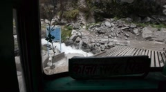 In rough roads in Kinnaur and Spiti Valley,Kinnaur,Kinnaur,India Stock Footage