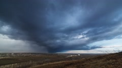 The movement of the storm front over the city. Stock Footage