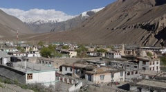 View of tibetan village,Tabo,Spiti,India Stock Footage