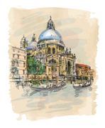 Venice - Cathedral of Santa Maria della Salute Piirros