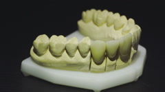 Close up view of ready denture 5 Stock Footage
