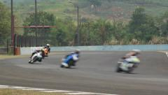 Five Motorcycle Racing in the Circuit HD Stock Footage