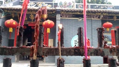 Stock Video Footage of Shenzhen, China: Guan Gong Temple