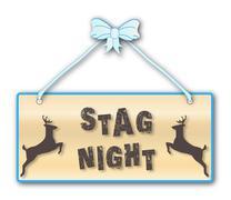 Stag Night - stock illustration