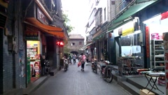 Shenzhen, China: ancient street landscape Stock Footage