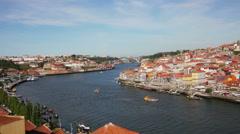 Quarter of Ribeira to Porto .  Portugal Stock Footage