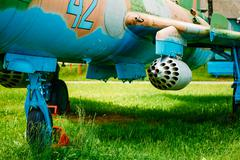 Su-17 is a Soviet variable-sweep wing fighter-bomber developed f Stock Photos