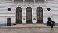 Exterior of the historical Chilean Navy building in Valparaiso, Chile. Stock Footage