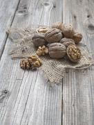 Heap of walnuts Stock Photos