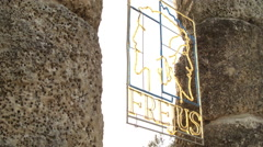 Provincial City Sign in FREJUS, FRANCE Stock Footage