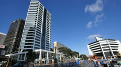 New Zealand Auckland buildings and esplanade at waterfront 4k 12 Stock Footage