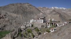 Lamayuru Tibetan Monastary View,Lamayuru,Ladakh,India Stock Footage