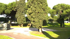 City Square Park in FREJUS, FRANCE Stock Footage