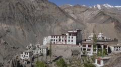 Lamayuru Tibetan Monastary View Stock Footage