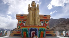 Maitreya statue at Likir monastary,Likir,Ladakh,India Stock Footage