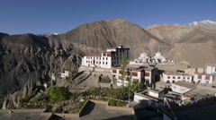 Lamayuru monastary with mountains,Lamayuru,Ladakh,India Stock Footage