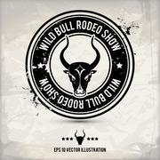 alternative bull stamp - stock illustration