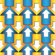 Stock Illustration of abstract blue and orange  arrows pattern