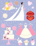 wedding fair - stock illustration