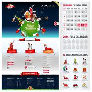 five components website template for christmas - stock illustration
