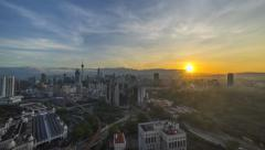 Sunrise At Kuala Lumpur City, Malaysia - A time-lapse Stock Footage