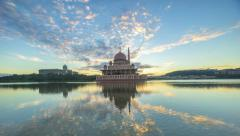 Sunrise At Putra Mosque, Putrajaya Malaysia - A time-lapse Stock Footage