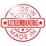 Made in Luxembourg red seal - stock illustration