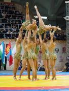 Russian national gymnastics aesthetic team - stock photo