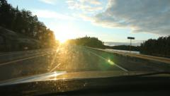 Sunset drive in Northern Ontario, Canada. Stock Footage