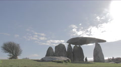 View of cromlech ancient burial ground (5K TIMELAPSE) Stock Footage