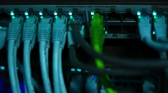 Operational Ethernet switch - stock footage