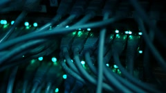 Ethernet cables - stock footage