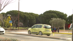 Local Traffic in FREJUS, FRANCE Stock Footage