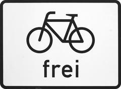 Fahrradfahrer Frei - stock photo
