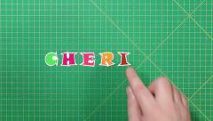 Popular English words. cherish Stock Footage