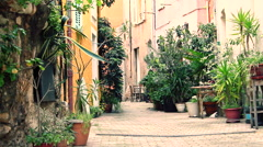 Traditional street in france Stock Footage