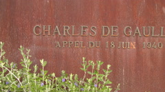 CHARLES DE GUALLE MEMORIAL FREJUS, FRANCE Stock Footage