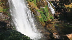 Wachirathan Waterfall of Doi Inthanon National Park, Chiang mai, Thailand - stock footage