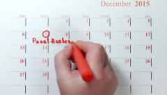 The calendar december 2015 - stock footage